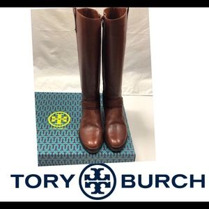 Tory Burch Derby Riding Boot-Almond